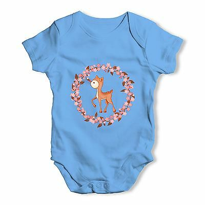 Twisted Envy Little Deer Baby Unisex Funny Baby Grow Bodysuit