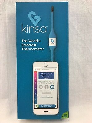 Kinsa Smart phone iphone Thermometer Rectal Oral Underarm 10Sec Read Pediatric