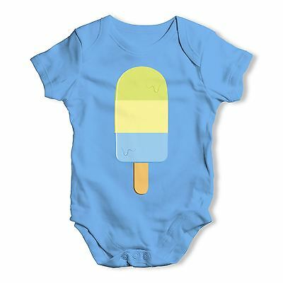 Twisted Envy Multi Coloured Ice Lolly Baby Unisex Funny Baby Grow Bodysuit