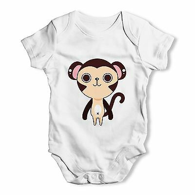 Twisted Envy Cute Monkey Baby Unisex Funny Baby Grow Bodysuit