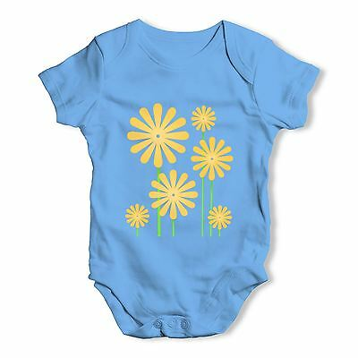 Twisted Envy Sunflowers Baby Unisex Funny Baby Grow Bodysuit