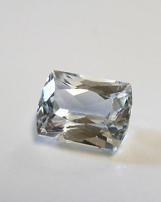 Natural earth-mined modified emerald cut blue aquamarine gemstone... 2.84 carat