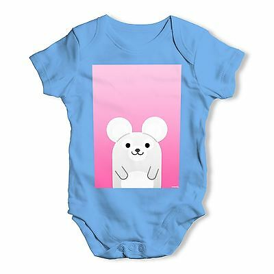 Twisted Envy Cute Mouse Baby Unisex Funny Baby Grow Bodysuit