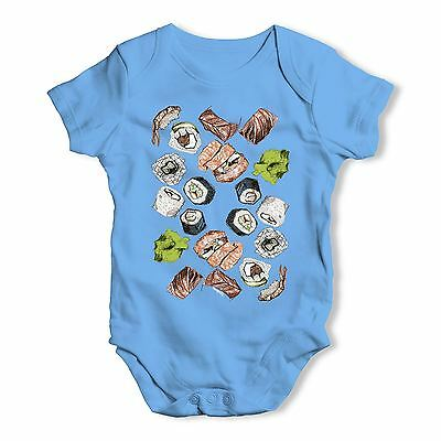 Twisted Envy Shushi And Wasabi Baby Unisex Funny Baby Grow Bodysuit