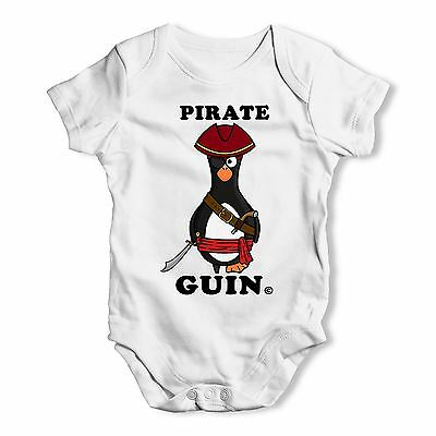 Twisted Envy Pirate Guin The Penguin Baby Unisex Funny Baby Grow Bodysuit