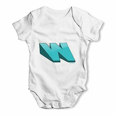 Twisted Envy Alphabet Letter W Baby Unisex Funny Baby Grow Bodysuit