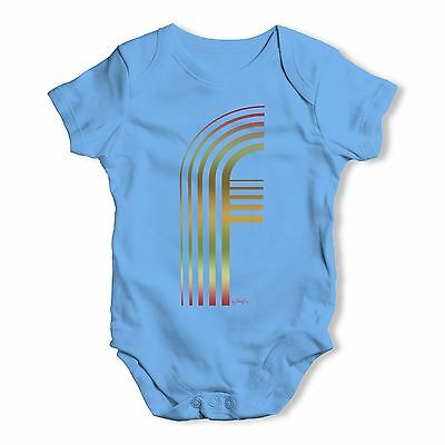 Twisted Envy Big Letter F Baby Unisex Funny Baby Grow Bodysuit