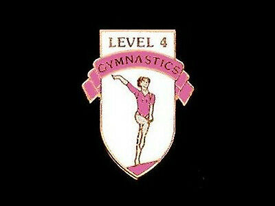 Level 4 Gymnastics Lapel Pin - MAKING REAL PROGRESS NOW!