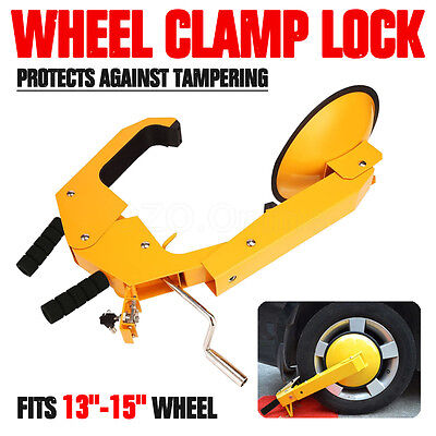 Anti Car Vehicle Wheel Clamp Disc Lock Anti Theft Security Safety Heavy Duty NEW