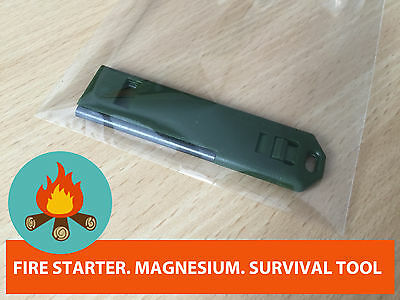 Fire Starter Magnesium Stone Travel Survival Tool Flint Top Quality Uk Seller