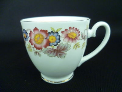 CROWN FENTON PINK FLORAL COFFEE CUPS (w)