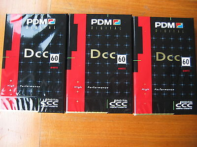3 PDM DCC Tapes C60  NEW and sealed