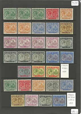 St Kitts Collection on 11 Pages. Mint & Used GV - QEII. Cats £1000+ MNH & MM