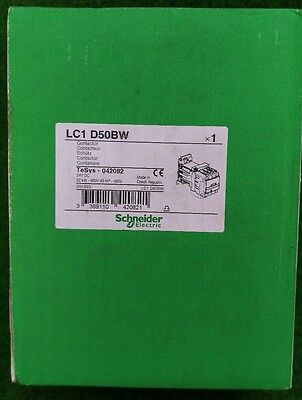 Telemecanique LC1 D50BW Contactor TeSys 042082 24V DC New