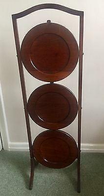 Vintage Wooden 3 Tier Cake Stand 1940's/50's