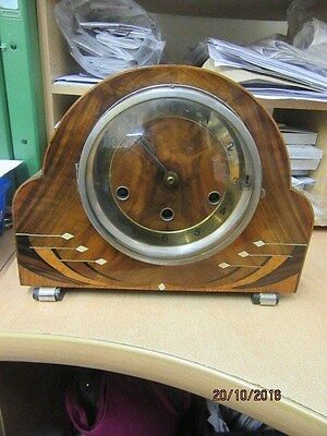 Westminster Chiming Mantel Clock In Working Order By Haller