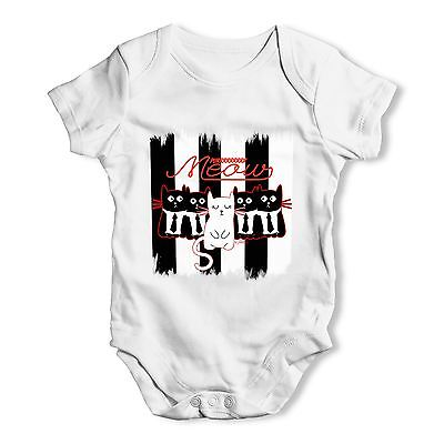 Twisted Envy Parallel Cats Baby Unisex Funny Baby Grow Bodysuit