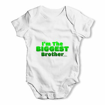 Twisted Envy I'm The Biggest Brother Baby Unisex Funny Baby Grow Bodysuit