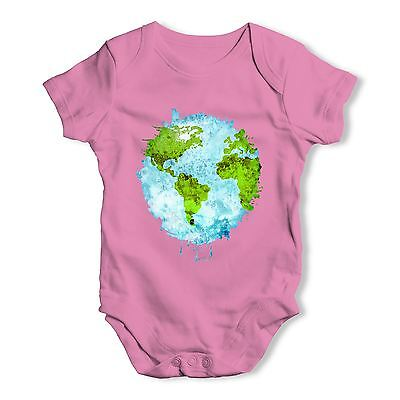 Twisted Envy Melting Earth Baby Unisex Funny Baby Grow Bodysuit