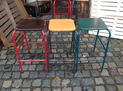 old science lab stool, school chairs, seats, stools, metal stool