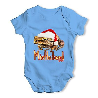 Twisted Envy Mistletoad Baby Unisex Funny Baby Grow Bodysuit