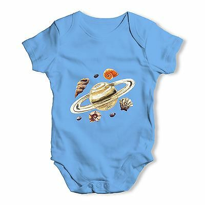 Twisted Envy Saturn Seashells Baby Unisex Funny Baby Grow Bodysuit
