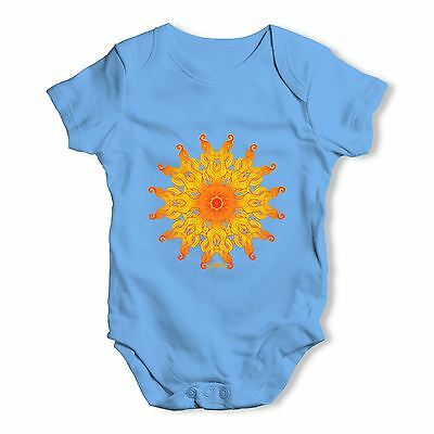 Twisted Envy Decorative Patterned Sun Baby Unisex Funny Baby Grow Bodysuit