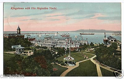 Dún Laoghaire, Nr Dublin 1912. Kingstown with His Majesties Yacht. Rare early PC