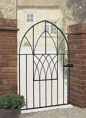 Anavio Metal Garden Gate 914mm to 991mm GAP x 1350mm H low bow top Wrought Iron