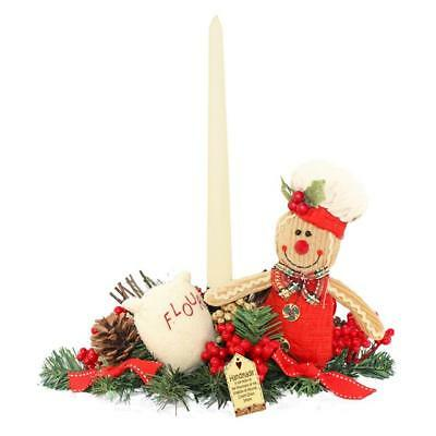 Gingerbread Man Candle Holder - Christmas Table Decoration Centrepiece