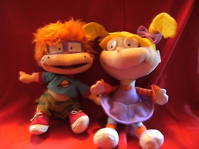 "Rugrats Toys - Chuckie 11"" approx  and Angelica 13""  approx Soft Toys"