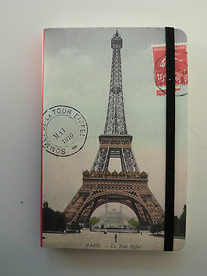 Cavallini & Co Small Lined Pocket Notebook Eiffel Tower Paris - 256 Pages, New