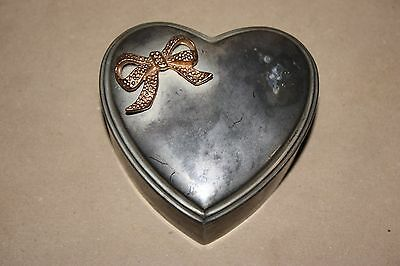 Silver Metal Heart Container