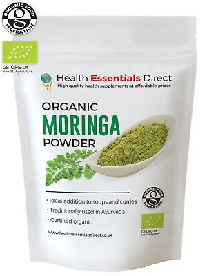 Organic Moringa Oleifera Powder (Natural Multi Vitamin, Superfood) Choose Size
