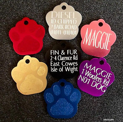Funky Coloured Aluminium Dog and Cat Pet Id Tags, Various Shapes and Sizes !!!