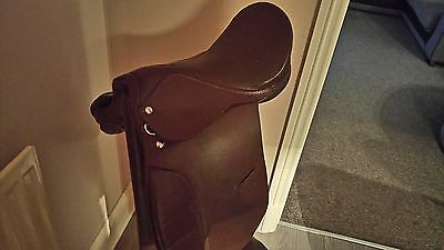 "15"" Brown leather pony saddle"