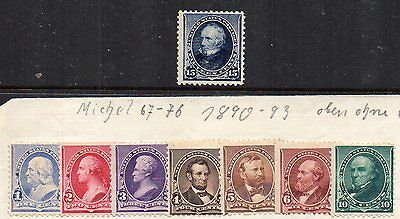 USA 1890-93 PRESIDENTS MINT STAMPS TO 15c CATALOGUE £900+