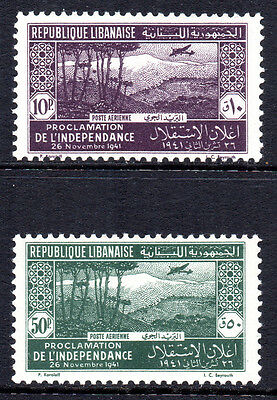 LEBANON 1942 Airmail Issue - Independence / Mt.Lebanon & Aircraft MINT NH Set