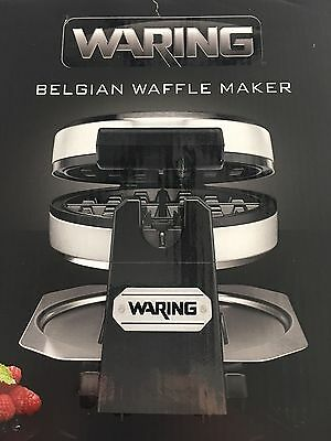 Waring Rotating Electric Belgian Style Waffle Maker Nonstick Easy Clean WMK 200