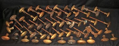 Large Job Lot Of Victorian Brass Door Handles