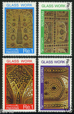 Pakistan Stamps 1984 Handicrafts Series Glass Work Lahore Fort MNH