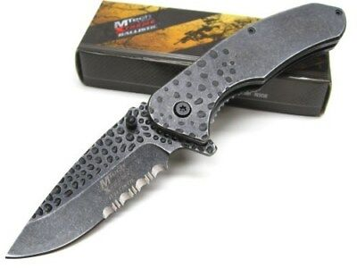 Mtech Xtreme MTXA845S Tactical Black Assisted Serrated Folding Pocket Knife