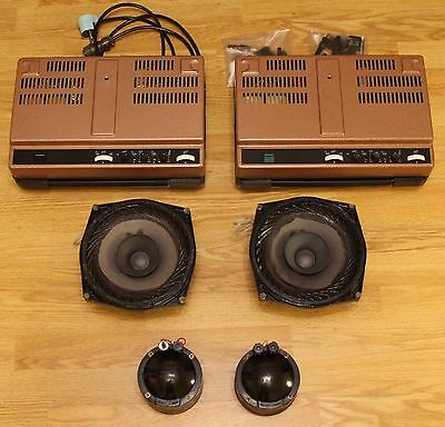 LOMO KINAP vintage set: 2 drivers, 2 woofers and 2 amplifiers.