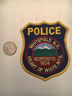 Whitefield New Hampshire Police Department Patch NH