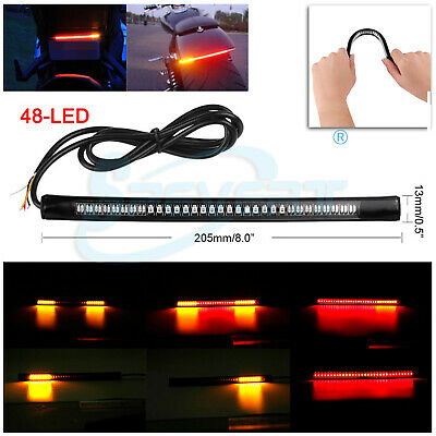 48 LED Motorcycle Bike Feux arrière freinage Turn Signal Indicadores Tail Light