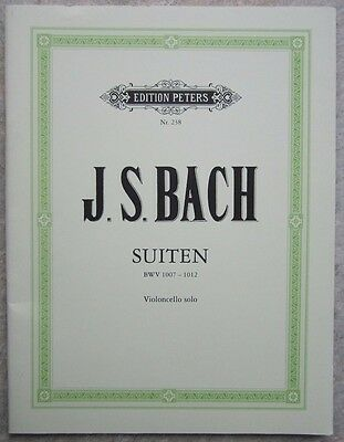 Bach Suites for Cello BWV 1007-1012 Edition Peters 238  *NEW*
