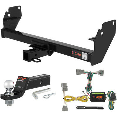 """CURT Class 3 Trailer Hitch Tow Package with 2"""" Ball for 2005-2015 Toyota Tacoma"""