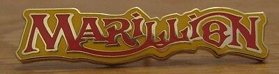 Marillion Badge Metal Enamel 80's Logo Fish Prog Rock Vintage