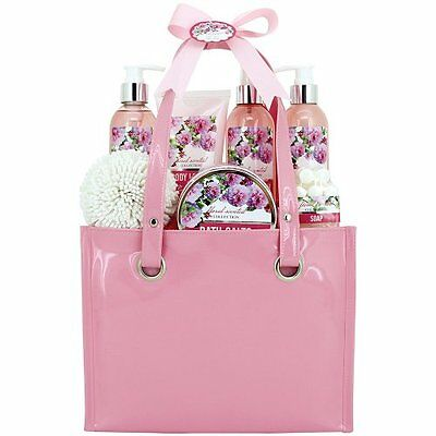 Gloss! Floral Scented Bath Gift Set, Peony - 7 Piece