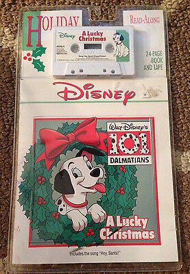 Disney Holiday 101 Dalmatians A Lucky Christmas Read Along~Book & Cassette Tape